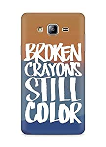 AMEZ broken crayons still colour Back Cover For Samsung Galaxy ON5