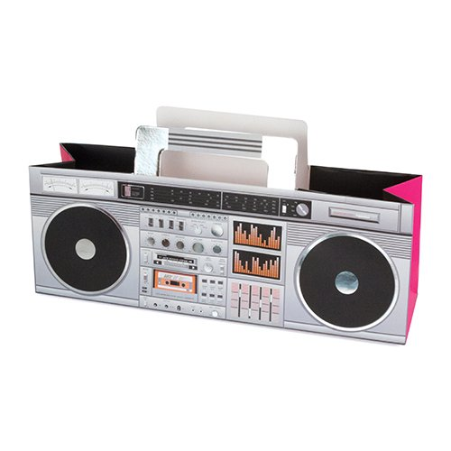 Revel Paper Retro Boombox Wine Carrier
