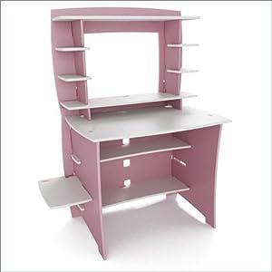 Amazon Com Legare 36 Inch Kids Desk And Hutch Pink