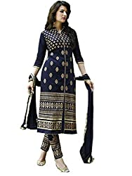 RadadiyaTRD Blue color Faux Georgette, Embroiderd Salwar suit Dupatta material