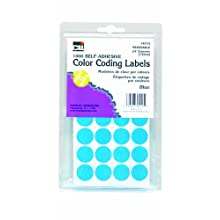 Charles Leonard Inc. Labels with Color Coding Dots, 0.75 Inch Diameter, Green, 1000 per Box (45125)