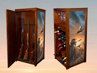 WAG-Wine/Art/Gun Cabinet-Evening Surprise-Terry Redlin