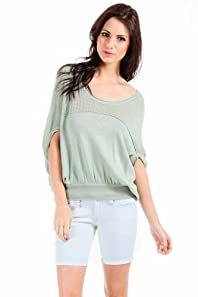 Kerisma Knitted Sleeveless Poncho in Light Green