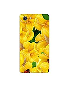Micromax Unite 3 ht003 (134) Mobile Case from Mott2 - Bell Flower with Butterfly (Limited Time Offers,Please Check the Details Below)