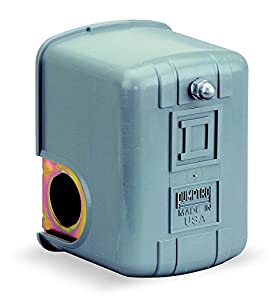 """Square D by Schneider Electric 9013FHG12J52 Air-Compressor Pressure Switch, 125 psi Set Off, 30 psi Fixed Differential, 1/4"""" NPSF Internal"""