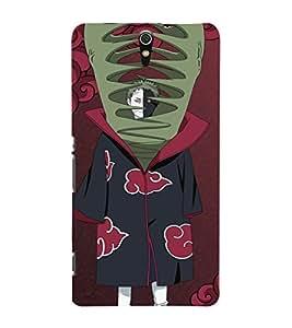 EPICCASE Naruto Shippuden Zetsu Mobile Back Case Cover For Sony Xperia C5 (Designer Case)