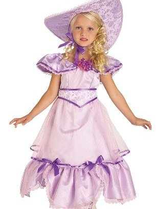 Purple Southern Belle Kids Costume