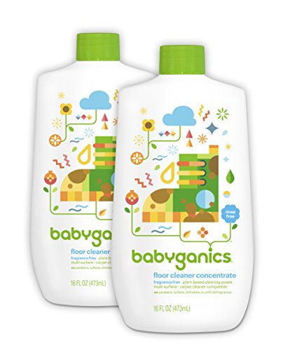 Babyganics Floor Cleaner Concentrate, Fragrance Free, 16oz Bottle (Pack of 2) (Aussan Natural compare prices)