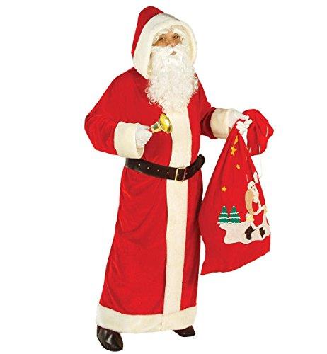 Widmann - Babbo Natale Costume, Super Lusso in Velluto, in Taglia XL