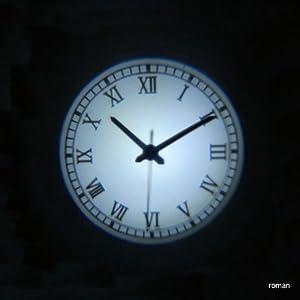 DETAIL Projection clock Roman black プロジェクションクロック ローマンブラック 1598CBK