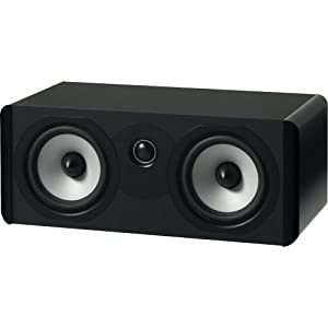 Boston Acoustics A 225C Dual 5.25-Inch Woofer Two-Way Center Channel Speaker (Each, Gloss Black)
