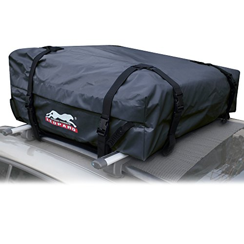 Leopard Heavy Duty Waterproof Roof Top Cargo Bag Fits Vehicles With or Without Roof Rack(11 cubic feet) (Roof Rack Cargo Bag compare prices)