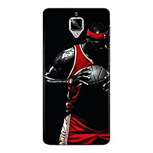CrazyInk Premium 3D Back Cover for One Plus Three - BASKETBALL