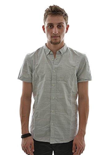 Camicia a maniche corte tom tailor 2030091 fitted, checked shirt, 1/2, colore: grigio grigio Small