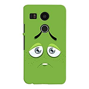 ColourCrust LG Google Nexus 5X New (2016 Edition) Mobile Phone Back Cover With Smiley Expressions Style - Durable Matte Finish Hard Plastic Slim Case