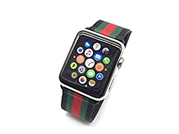 Apple Watch Band, HandyGear Canvas Sports Band for Apple Watch (42MM Black)