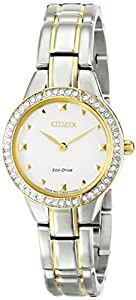 Citizen Women's EX1364-59A Silhouette Analog Display Japanese Quartz Two Tone Watch