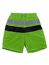 i play. Baby-boys Ultimate Snap Swim Trunks (18/24 Months, Lime/Black)