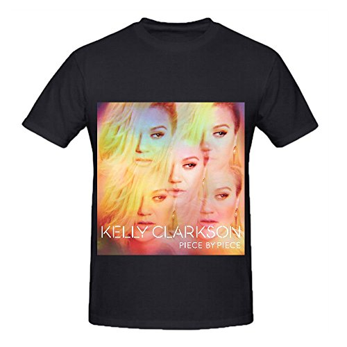 Kelly Clarkson Piece By (deluxe Version) 80s Mens O Neck Art Shirt Black