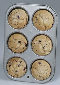Baker's Secret 1075053 Basics Nonstick 6-Cup Muffin Pan - World Kitchen/Ekco