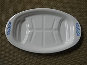 Corningware Corning Ware Blue Cornflower Meat Platter/rack