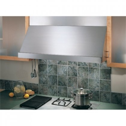 """48"""" Under Cabinet Range Hood With Multiple Internal/In-Line/Exterior Blower Options Variable Speed Slide Control Optional Halogen Lamps: Stainless"""