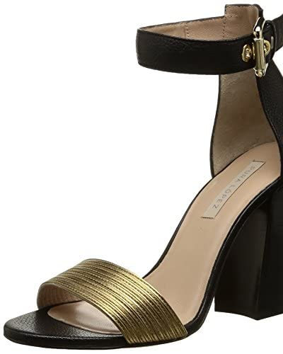 Pura Lopez Sandalette schwarz/gold
