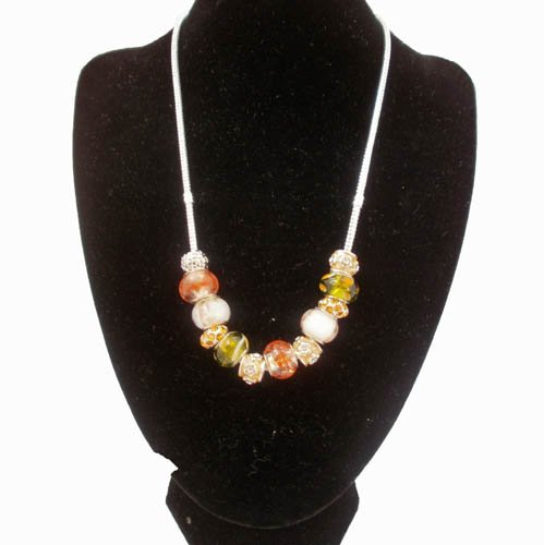 In Handbag Heaven Charm Style Necklace - Amber