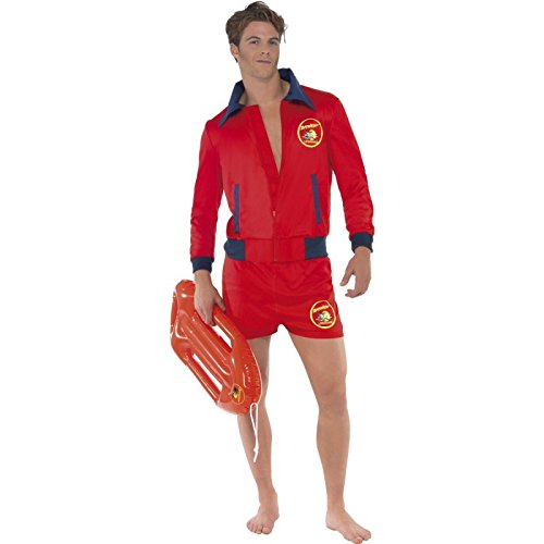 Mens Baywatch Lifeguard Costume with Shorter Shorts
