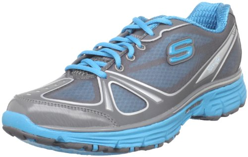 Skechers Women's Tone-Ups Fitness Ready Set - Excite Charcoal/Turquoise Training Shoes 11760 2 UK
