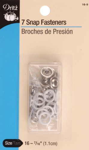 "Review Of Dritz Snap Fasteners - White - Size 16 - 7/16"" - 7 Ct."