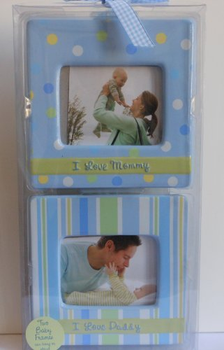Baby Essentials Two Baby Photo Frames- Blue - 1