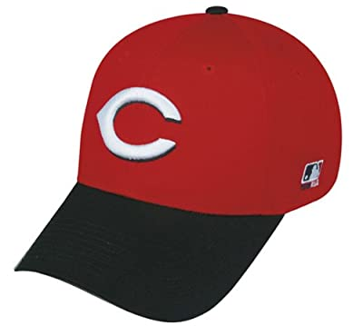 Cincinnati Reds (Black Brim) ADULT Adjustable Hat MLB Officially Licensed Major League Baseball Replica Ball Cap