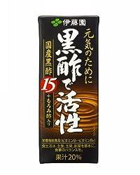 伊藤園 黒酢で活性 紙 200ml×24本