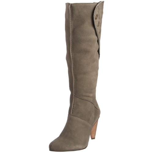 Fly London Women's Idel Grey Knee High Boot P141721000 4 UK