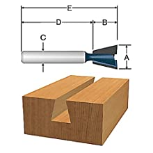 Bosch 84709M Dovetail Router Bit 1/2-Inch Shank 1/2-Inch Cut 1/2-Inch Diameter