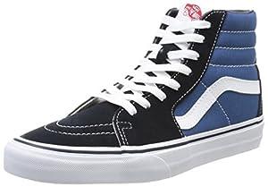 Vans Unisex Sk8-Hi Navy/White Sneaker - 11.5