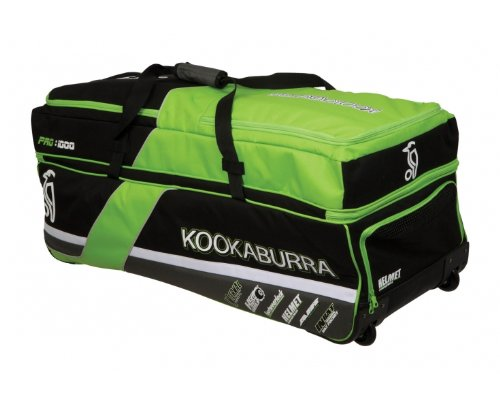Kookaburra Pro 1000 Cricket Bag - Black/Lime/Silver