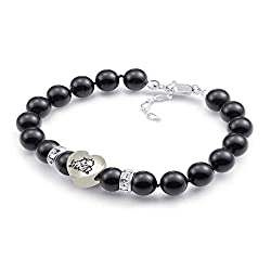 Texas Christian Horned Frogs Black Swarovski Pearl Bracelet