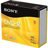 Sony DVD-R 4.7Gb Slim Case Pack of 10
