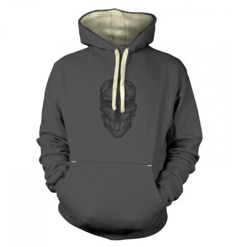 "Assassins Mask Hoodie (Premium) - Gaming Gamer Geek Hoodie - Graphite Xx Large (51"" Chest)"