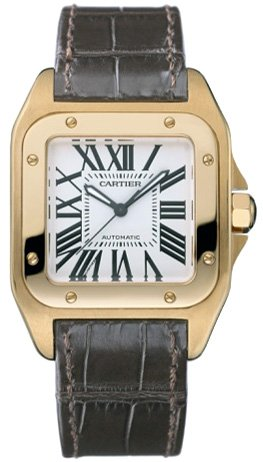 CARTIER Watches:Cartier Santos 100 18kt Rose Gold Ladies Watch W20108Y1 Images