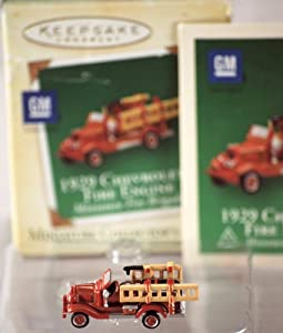 Hallmark Keepsake Miniature Series Ornament 2004 Miniature Fire Brigade #1 - 1929 Chevrolet Fire Engine - #QXM5164