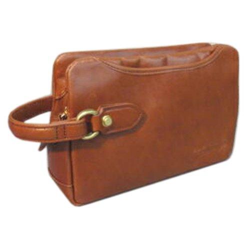 COMPLEX GARDENS[コンプレックスガーデンズ・ゲンボウ]本革製セカンドバッグAOL4191 (ブラウン)