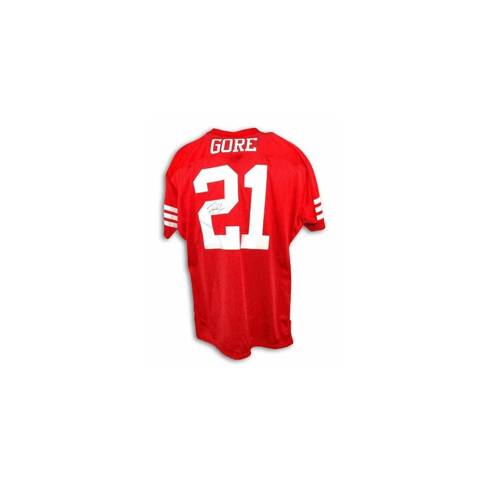 Frank Gore Autographed San Francisco 49ers Red Throwback Jersey