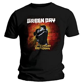 T-Shirt Green Day Noir 21st Century Cover L (T-Shirt taille Large)