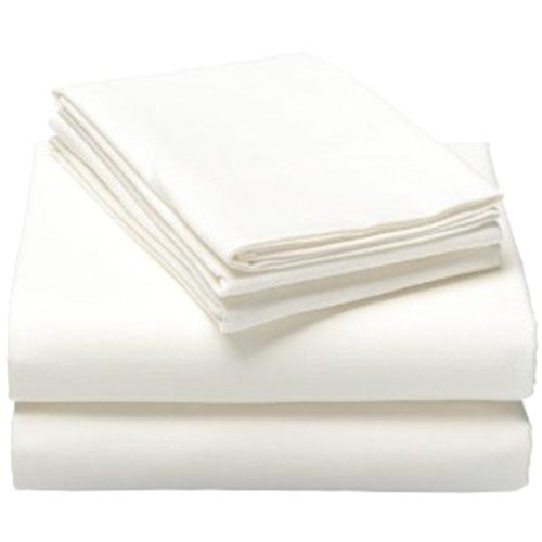 MARRIKAS FLANNEL SHEET SET SOLID WHITE