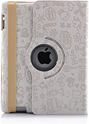 KolorFish iFun Love Printed Designer 360 Degree Rotation Leather Flip Book Case Cover Cover Stand Apple iPad Air