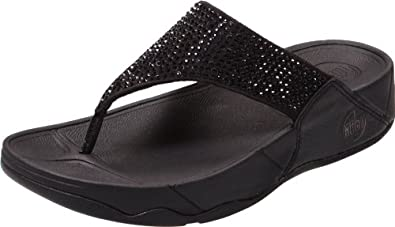 FitFlop Women's Rokkit Flip Flop,Black Diamond,9 M US