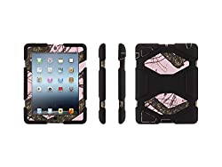 Griffin Pink Breakup/ Black Survivor All-Terrain in Mossy Oak Camo + Stand for iPad 2, 3, and 4th gen. - Military-Duty Case for iPad